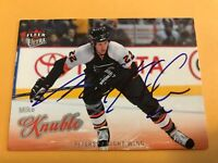 Mike Knuble Signed 08/09 Fleer Ultra Phildephia Flyers Card # 71