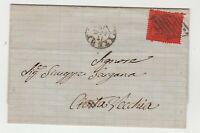 STORIA POSTALE - 1870 STATO PONTIFICIO C.10 VITERBO 17/7 E/6181