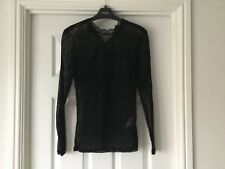 SELECTED FEMME BLACK LACE TOP -SIZE XS  6/8  EXCELLENT WORN ONCE