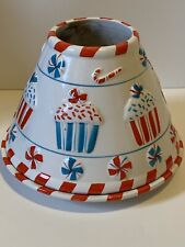 Sweet Treats Candle Shade Plate Set By Chelsea Home Imports Cupcakes Candy Canes