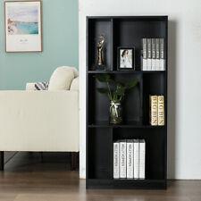 Open Shelf Bookcase Bookshelf 3 Tier 6 Cube Black Home Storage Shelves Closet