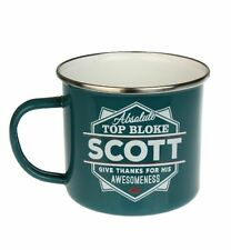 Scott Camping Enamel Tin Metal Mugs Cups Outdoor Gardening Picnic New