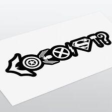 Coexister superhero Original Voiture Fenêtre Autocollant Sticker batman superman flash THOR