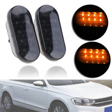 2x Dynamic LED Side Marker Signal Amber Light For VW MK4 T5 Golf Passat B5 Jetta