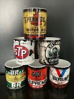 Set of 6 Retro Oil Can Gift oil Motorcycle Mechanic Gift Tea Coffee mugs set 2
