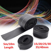 5m/10m Black 2:1 Heat Shrink Tubing Tube Sleeve Wrap Sleeving Wire Cable 15-40mm