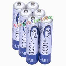 6x AAA 1000mAh 1.2V Ni-MH Rechargeable battery 3A BTY Cell for MP3 RC Toys