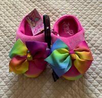 NWT Nickelodeon JoJo Siwa Babba Black With Pink Bow Slippers Shoe Sizes 8-4