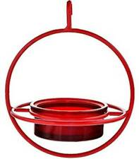 Couronne Red Bird Feeder with Perch - 7 Inch Hanging Sphere - Gift Boxed