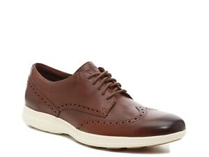 Cole HAAN Grand Tour Wingtip Brogue Oxford C29414 OS Brown Leather Shoes 9 NWOB