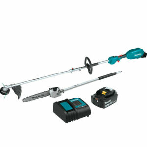 Makita 18V LXT Couple Shaft Power Head Kit with String Trimmer (XUX02SM1X4) NEW