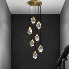 Modern Brass Crystal Chandelier Fixtures Pendants Lamp Luxury Customised Light