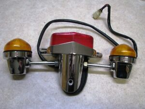 TRIUMPH BONNEVILLE LUCAS STYLE REAR BRAKE LIGHT WITH TURN SIGNALS AND CABLE