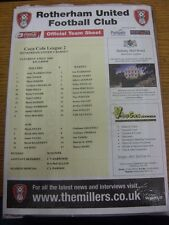03/05/2008 Colour Teamsheet: Rotherham United v Barnet. Thanks for viewing this