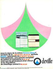 PUBLICITE ADVERTISING 124  1966  DEVILLE gazinière & poele à mazout