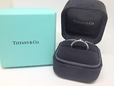 $2650 Tiffany & Co. 4mm  Etoile Band Diamond Ring Platinum 950 Size 4.5