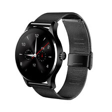 """K88H 1.22"""" Heart Rate Monitor Bluetooth Smart Watch for iOS Android Steel Black"""
