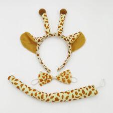 Giraffe Animal Set Kit Zoo Jungle Headband Ears Bow Tie Tail Costume Child Adult