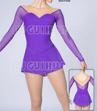 New  Ice Figure Skating Dress Baton Twirling Dress  customized Purple