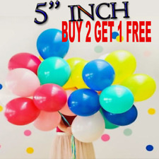 """20 X 5"""" Small Round Latex Best Balloons Quality Standard 5"""" inch Balloons Mix Uk"""