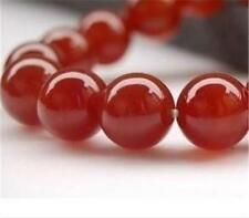 AAA+++ 8mm Natural Red Ruby Gemstone Round Carnelian Loose Beads 15''