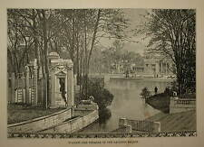 POLAND. WARSAW - THE THEATRE OF THE LAZIENKI PALACE. ENGRAVED VIEW CIRCA 1880