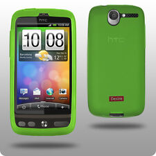 Protective Hard Silicone Case Skin for HTC Desire Green