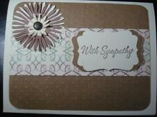 Handmade Sympathy Card Made With Stampin Up Flowers Swiss Dots Cuttlebug