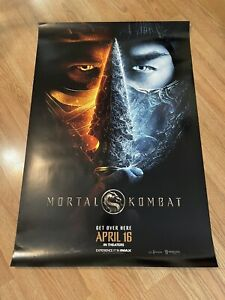 Mortal Kombat Original 2021 Double Sided Movie Poster 27x40!
