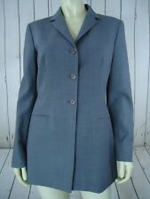 TAHARI Blazer 6 Gray Heather Poly Wool Blend Lightweight Buttoned Lined CLASSY