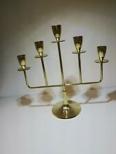 Brass Candle Holder With 5 Arms