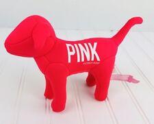 Victorias Secret VS PINK Dog Small Bright Hot Pink Plush Stuffed Love 1986
