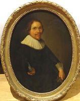 Fine 17th Century Dutch Old Master Portrait Of A Gentleman Antique Oil Painting