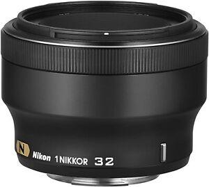 [NEAR MINT] Nikon 1 NIKKOR 32mm f/1.2 CRC SWM N Lens  Black from JAPAN (N426)