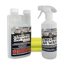 MAKES 10 X 500ML BOTTLE REFILLS WATERLESS CAR WASH WAX SPRAY WIPE & SHINE KIT