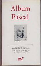 Album PASCAL. Bibliothèque de la Pléiade (1978).