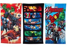 Official MARVEL AVENGERS TOWEL Kids Bath Beach Pool Cotton Towels Christmas Gift