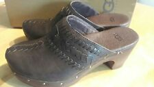 UGG Clogs, Slip On Mules, Dark Brown, UK Size 3.5, EU 36, USA 5, Used with Box