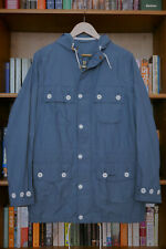 £199 Mens Barbour blue lightweight hooded casual jacket size M Medium 38