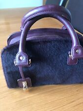 Small Damson Colour handbag From M & S With Inner Pockets. Excellent Condition