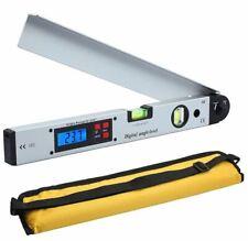 0~225° Electronic Digital Angle Finder Gauge Protractor Level Inclinometer 400mm