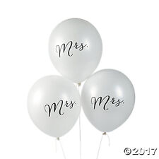 24 Wedding Reception Bridal Shower Party Decorations MRS Latex Balloons