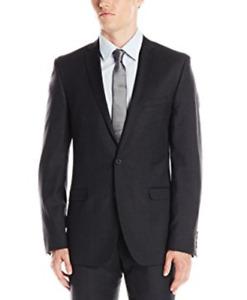 Ben Sherman Camden Skinny Fit Two Button Wool Charcoal Jacket 3162 Size 46L