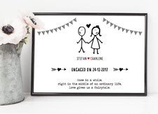 Personalised Engagement Print! Personalised Engagement gift! UK Seller! Fast Del