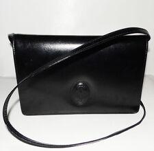 Must de CARTIER Paris - Black Leather Authentic Vintage Shoulder Handbag Clutch