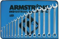 ARMSTRONG 52-682 15 Pc. 12 Point Metric Satin Finish Long Combination Wrench Set