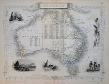 SET OF FIVE MAPS OF AUSTRALIA BY JOHN TALLIS C. 1850.