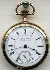 Rockford Winnebago 18 size Pocket watch Michigan dial