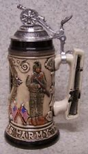 Beer Stein with lid Military U S Army Crest 0.75 Liter NEW Made in Germany boxed