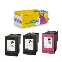 Compatible 2x N9J92AN + 1x N9J91AN Ink for HP 64XL BK C ENVY 7830 7855 - 3Pcs